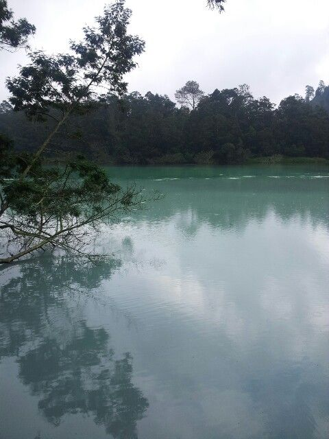 Perfect reflection..taken from telaga warna, dieng plateu, central java, indonesia