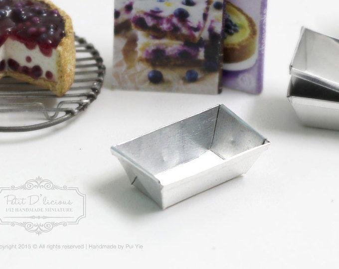 Metal Rectangle Loaf Baking Pan/Pound Cake Pan -Dolhouse Miniature Kitchenware1/12th