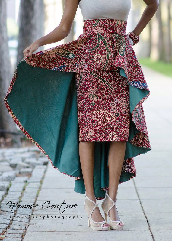 African Print High Low Skirts Google Search Afrikan Prints Pinterest Inspiration