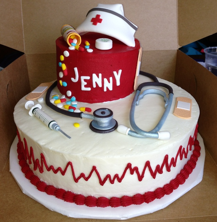 Nursing graduation cake.