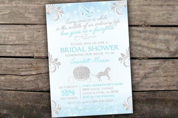 Printed or Digital Cinderella Bridal Shower by SavannahsMemories