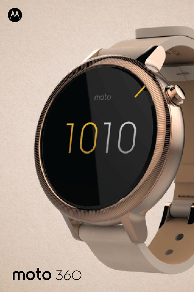 Give her the gift that's as stylish as she is with the one-of-a-kind Moto 360 smartwatch. Use Moto Maker, our online design studio, to select a band, bezel, and face design from a variety of options to match her personal style. It's the perfect tech-savvy accessory to enhance her trendy wardrobe!