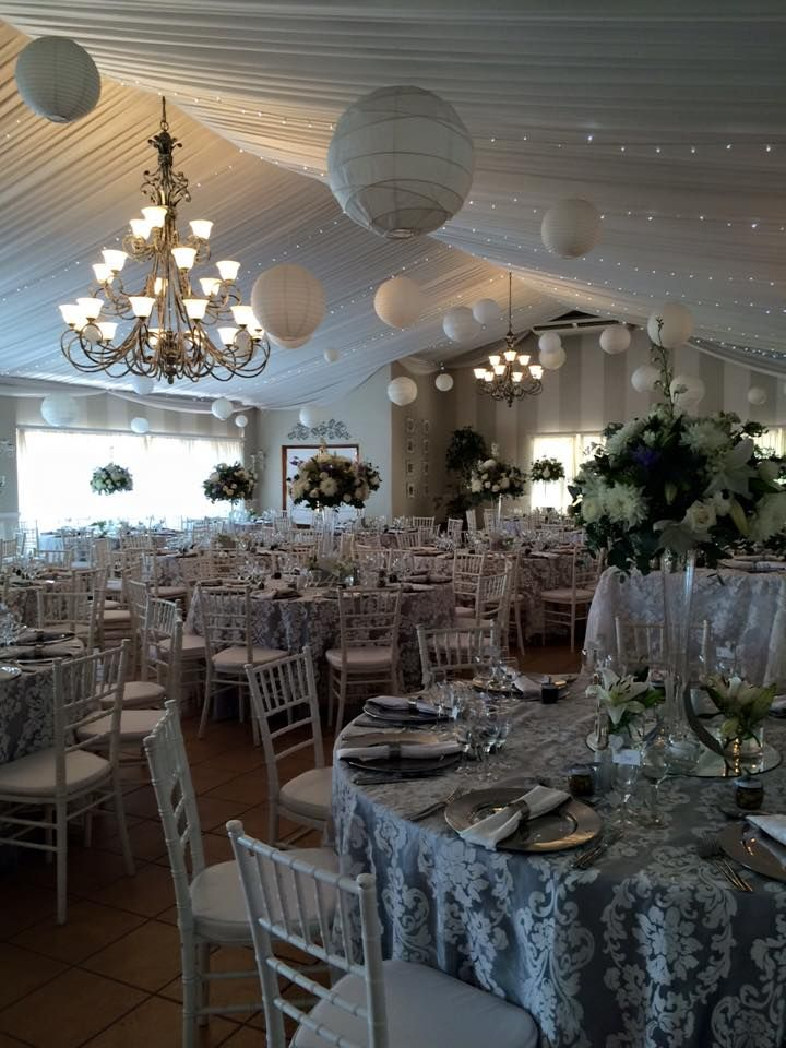 On Saturday 05 March Sandi and Devon Schoeman were married at Calderwood Hall ! Wedding colours most unusual all in shades of grey and white with a hint of blue ! Decor by Esther from Midlands Style Events