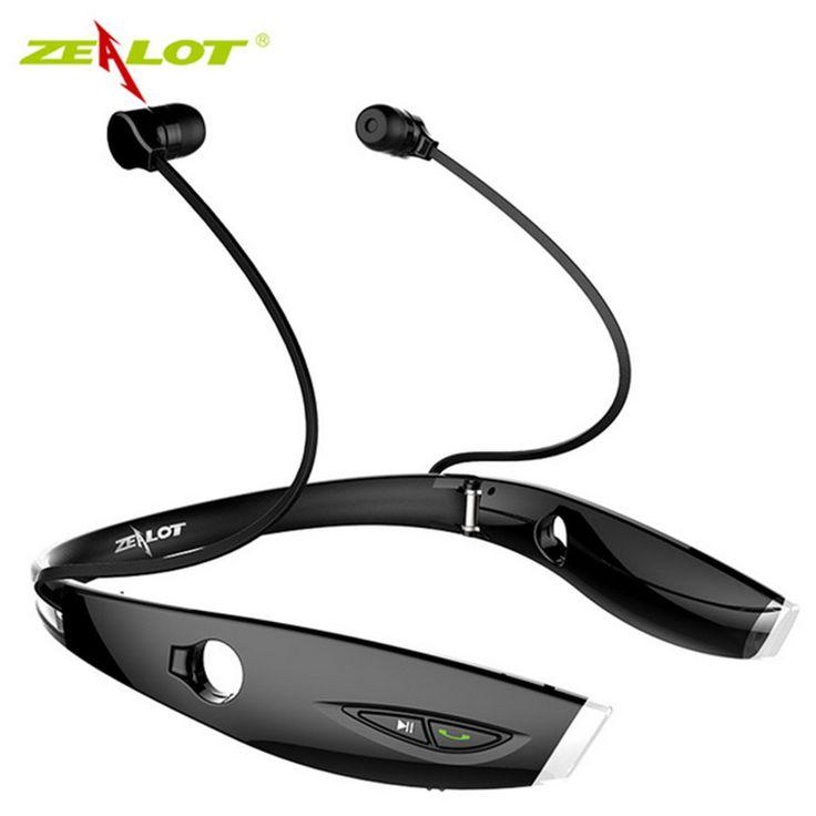 Zealots H1 waterproof Foldable Wireless auriculares Earphone audifonos Bluetooth Sport Stereo fone Headset HiFi Led Headphones