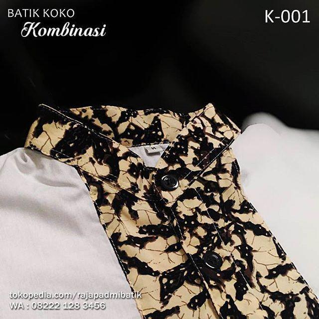 BATIK KOMBINASI, Baju Koko, Koko Batik Kombinasi, Seragam Batik, Batik Pria Elegan, http://www.tokopedia.com/rajapaadmibatik, WA : 08222 128 3456