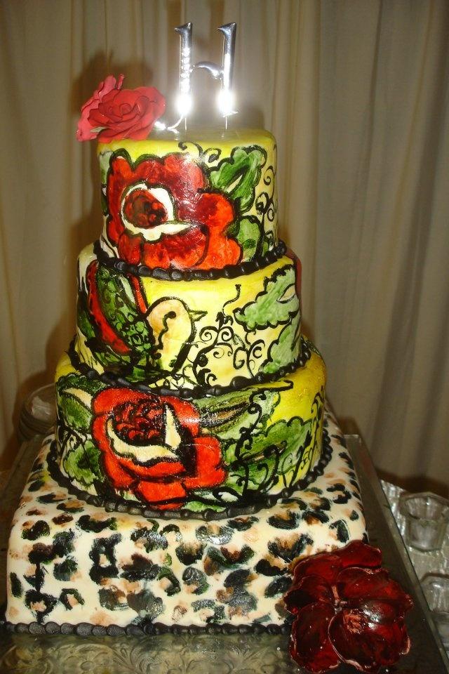 awesome painted cake