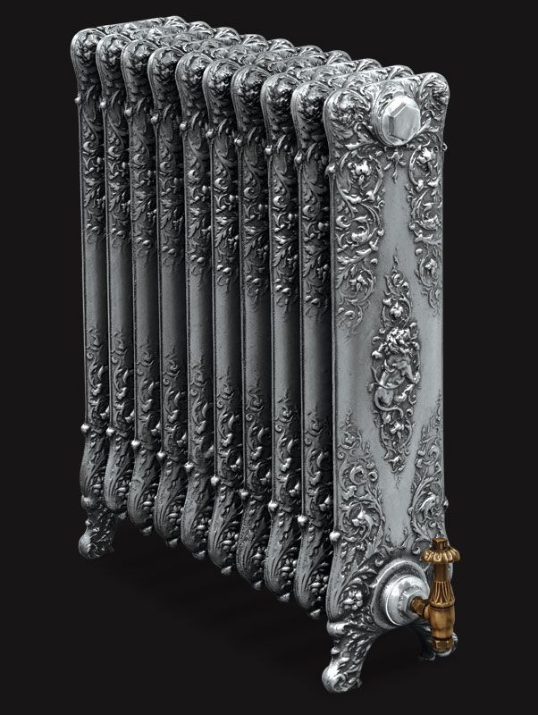 "Our Saint Paul cast iron radiator is a truly remarkable radiator combining cherubs, dragons and lions intertwined together with vines. The Saint Paul radiator was originally manufactured in 1842 by the American Radiator Company and was described by them in their sales catalogue of 1897 as ""a work of art in iron""."
