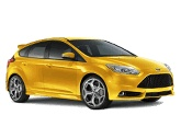The Ford Focus ST that will one day replace my Ford Focus SVT. Mine won't be yellow.