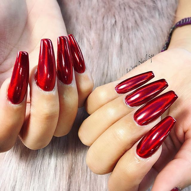 Best 25+ Red chrome nails ideas on Pinterest