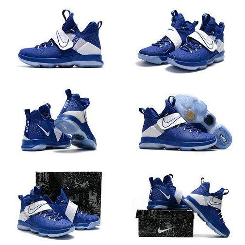 brand new 4c1fb a170c Where To Buy 2018 New LeBron 14 XIV Royal Hyper Cobalt Metallic Silver Basketball  Shoes 2018