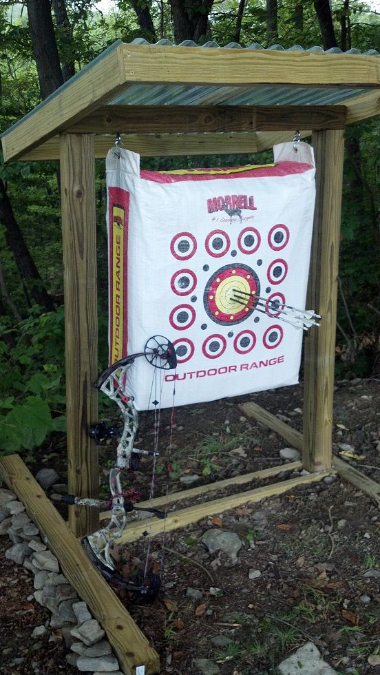 A permanent practice range can make your targets last longer and improve your shooting- build plan. Outdoor shooting is illegal in my city, but I could put something like this in my garage for practice.