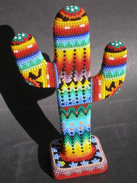 Huichol art, the bead work