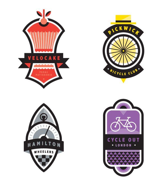 Cycling Plus - Valerie Jar / Design + Illustration #badge #monochrome