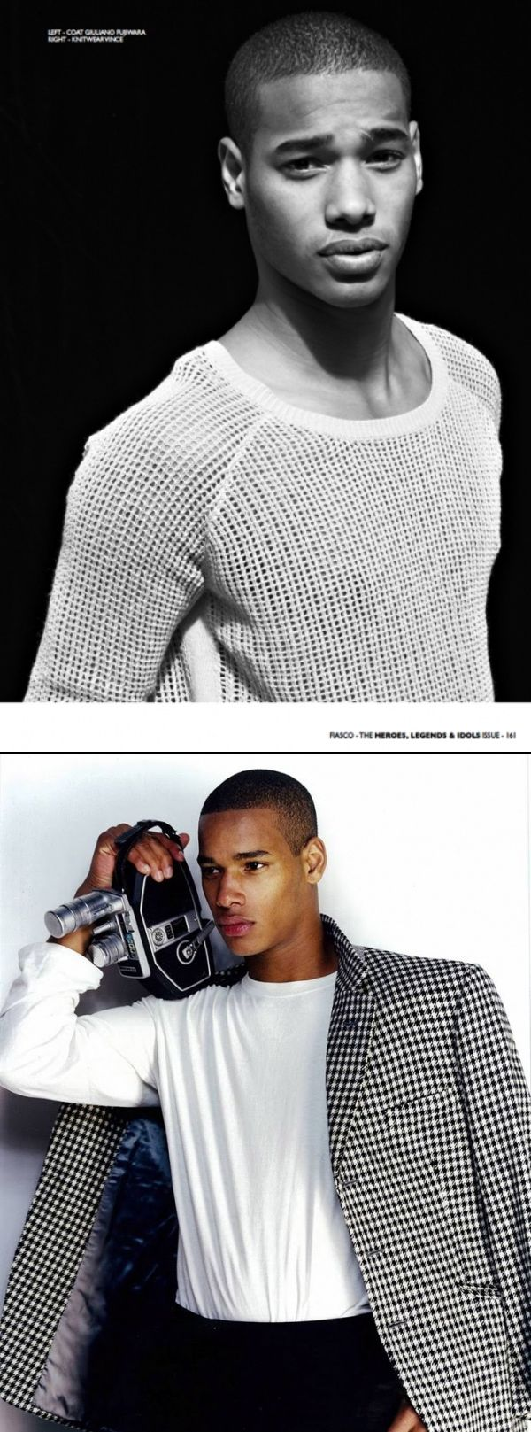AFRICAN MALE MODELS - Sacha M'Baye (Senegal/ France)/ Height 6'2″/ Agency: Select (London), Why Not (Milan), New Madison (Paris) At just over 23 years, Sacha is one of our favorite models and has already modeled for Gap, American Eagle, Stone Island, GQ Style, and Burberry. No need to keep an eye on him, he already took the runway by storm. -- He's also a semi-pro soccer.