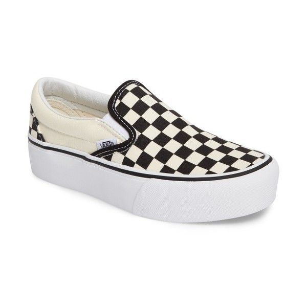 Women's Vans Platform Slip-On Sneaker ($55) ❤ liked on Polyvore featuring shoes, sneakers, canvas slip on shoes, white platform sneakers, vans sneakers, white canvas shoes and platform shoes