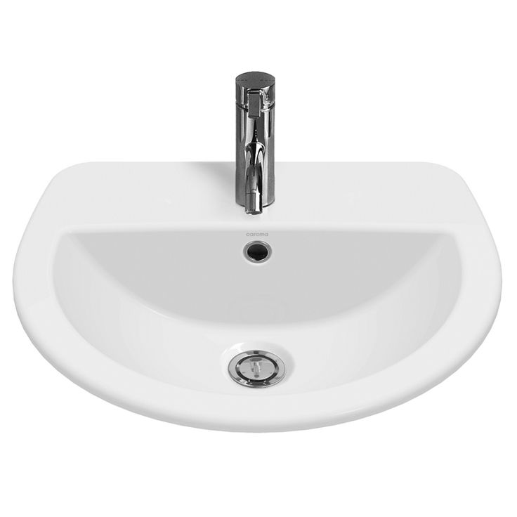 Caroma White Cosmo Insert Vanity Basin With 3 Tap Holes $136   W 440MM L 500MM, Bowl capacity 4 litres