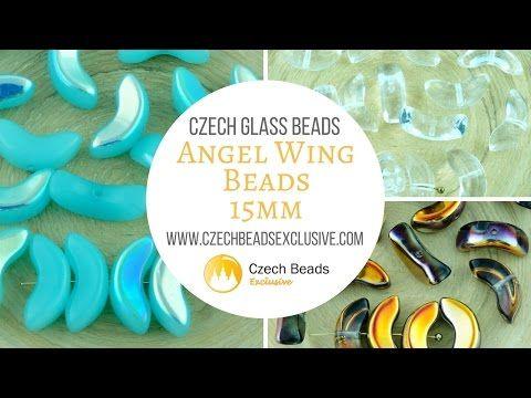 Czech Glass 15mm Angel Wings – New arrivals 09.05.2017   CzechBeadsExclusive