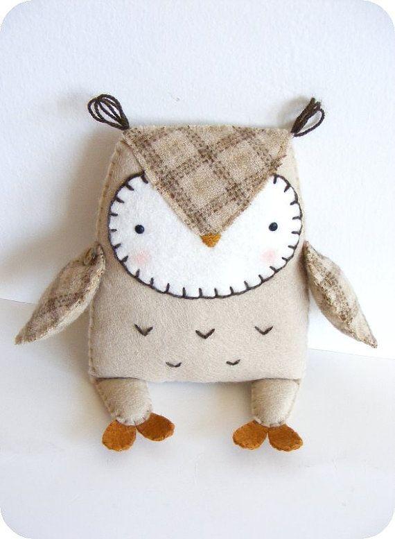 PDF pattern Felt owl softie