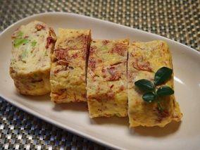 お弁当に美味しいコンビーフとねぎの玉子焼き レシピブログ