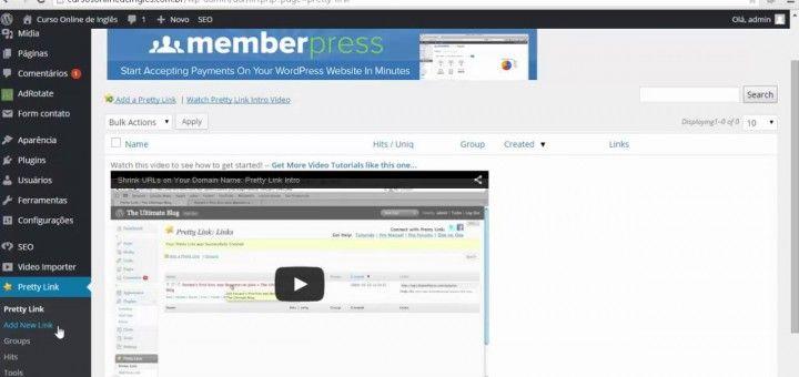 Encurtando Links com o Plugin Pretty Link do WordPress