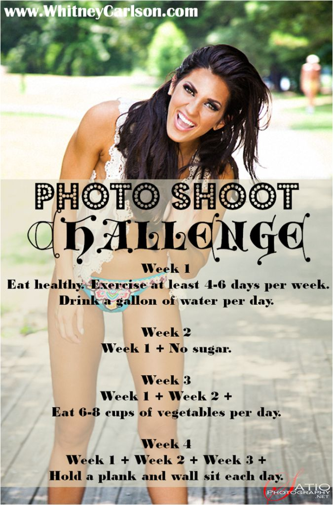 Who's in?!?  whitney-carlson-photo-shoot-challenge-eat-clean-fitness-weekly-challenges