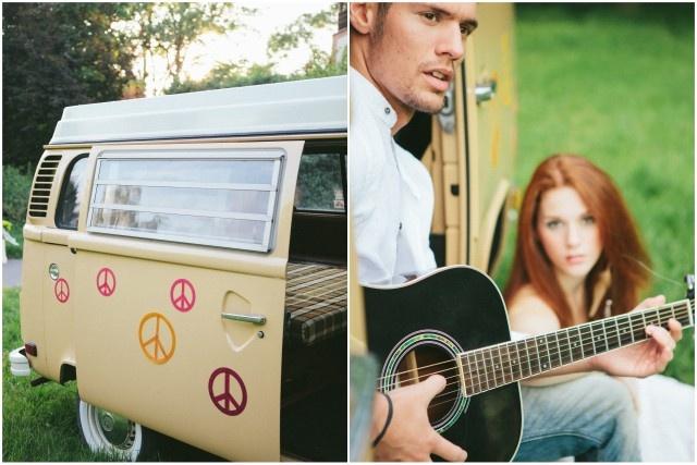 régi VW és gitár, mint hangulati elemek