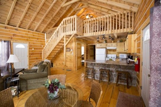 Interior Ideas For Small Cabins: Bedroom-momentous-log-cabin-loft-bedrooms-with-wooden
