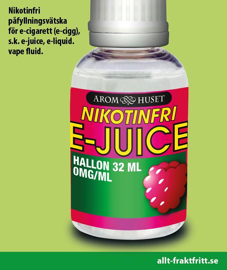 Nikotinfri E-juice Hallon 32ML
