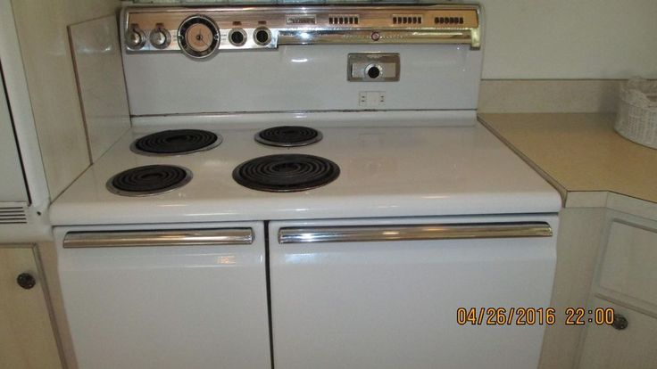 Antique General Electric Range Stoves ~ Vintage s white ge electric stove range general