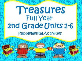 Treasures 2nd Grade - This bundle contains a variety of activities to teach, re-teach, practice or assess the various lessons taught within each unit of the Treasures books 2.1 and 2.2 for Second Grade. $