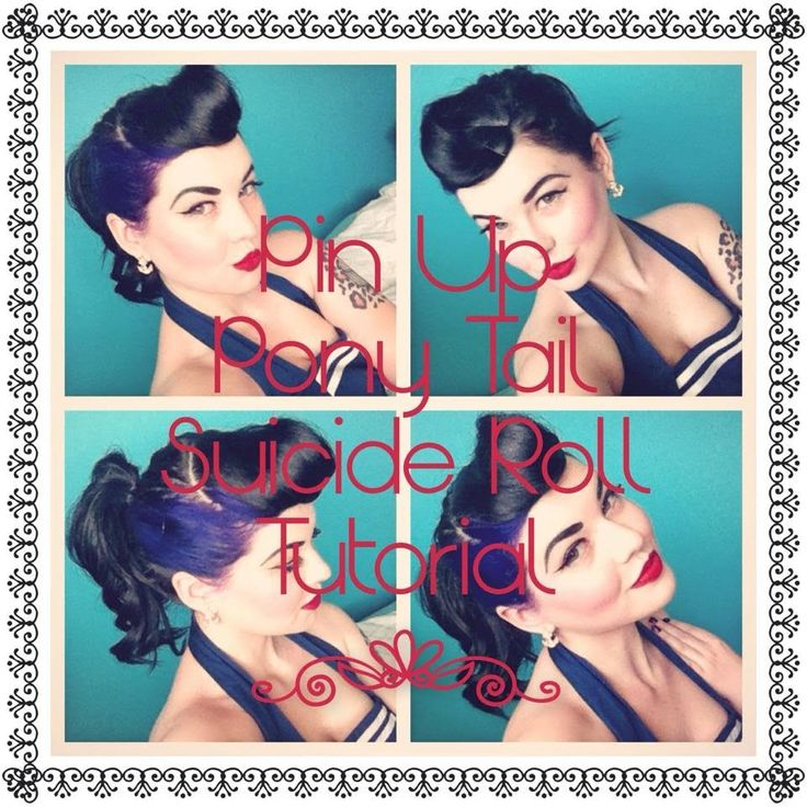 Pin Up:Pony Tail Suicide Roll Tutorial