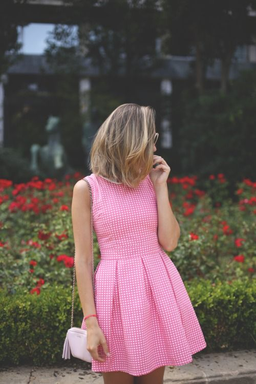 pink summer dress. street women fashion clothing style apparel @RORESS closet ideas