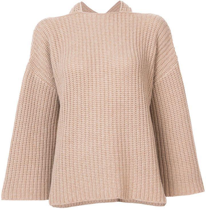 Derek Lam 10 Crosby draped knitted top