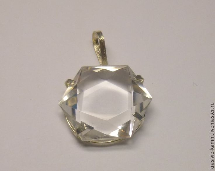 Купить Кулон из серебра с кварцем - кварц, кварц натуральный, натуральный кварц, натуральные камни