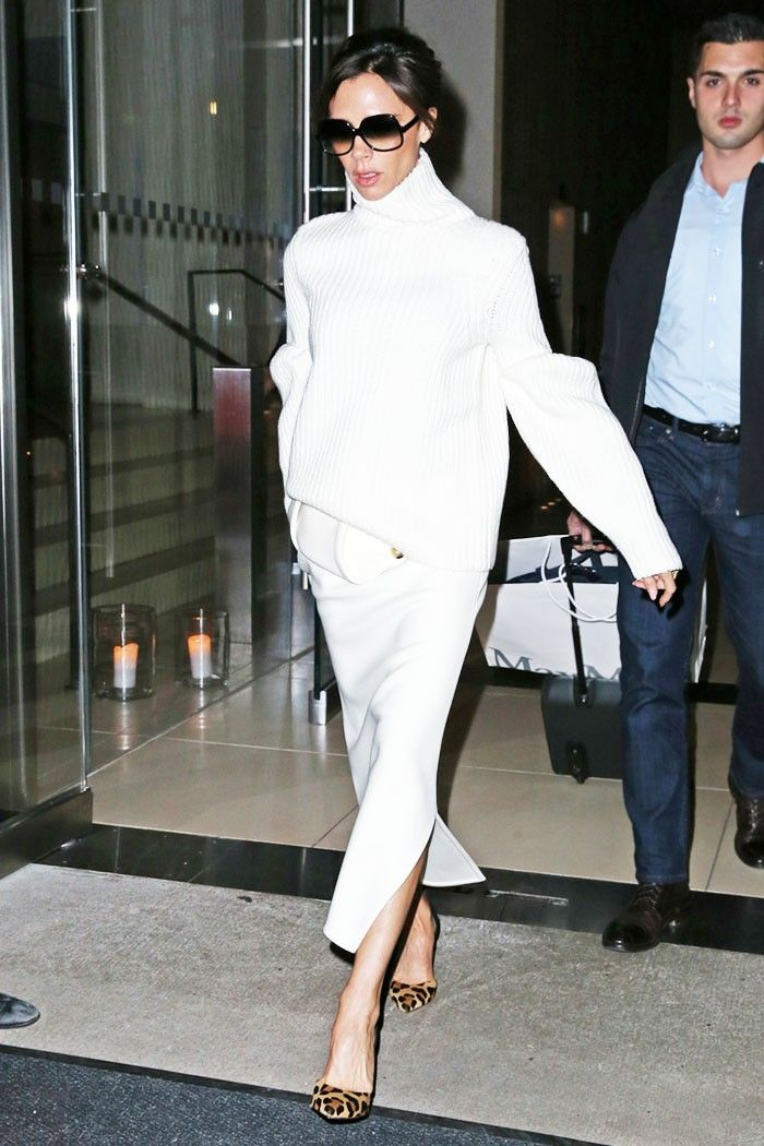 Victoria Beckham's Simple Solution for Staying Chic When It's Freezing via @WhoWhatWear