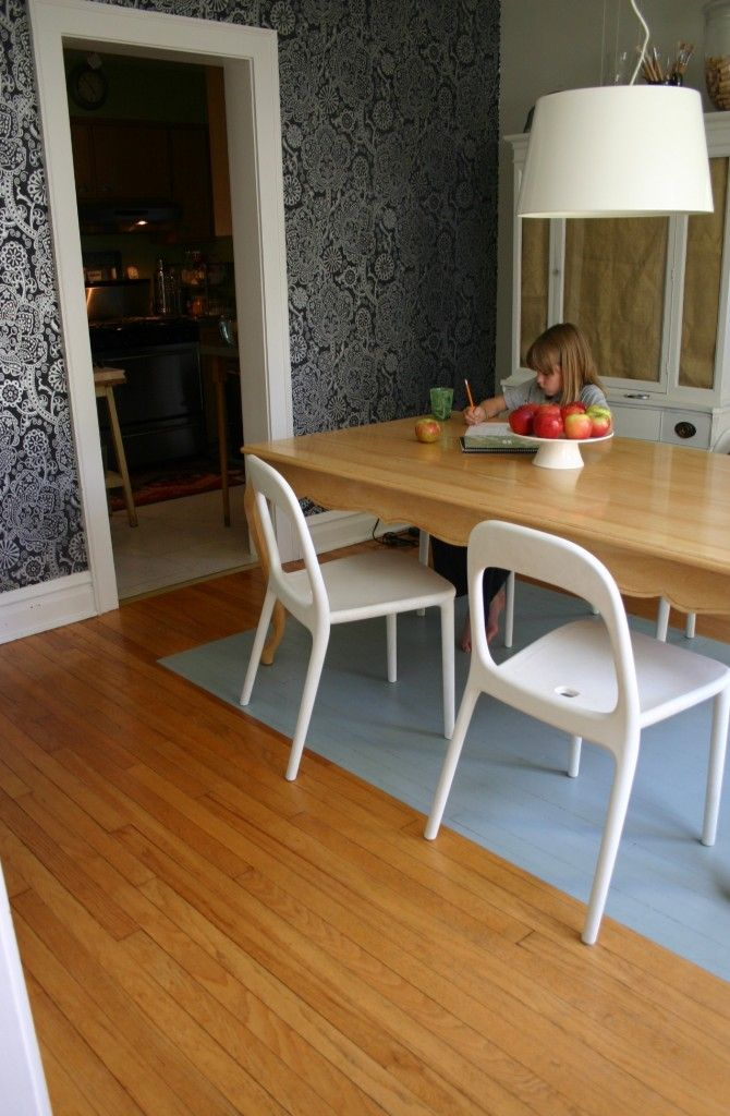 A Painted Dining Room Floorperfect For Families With Young Kids