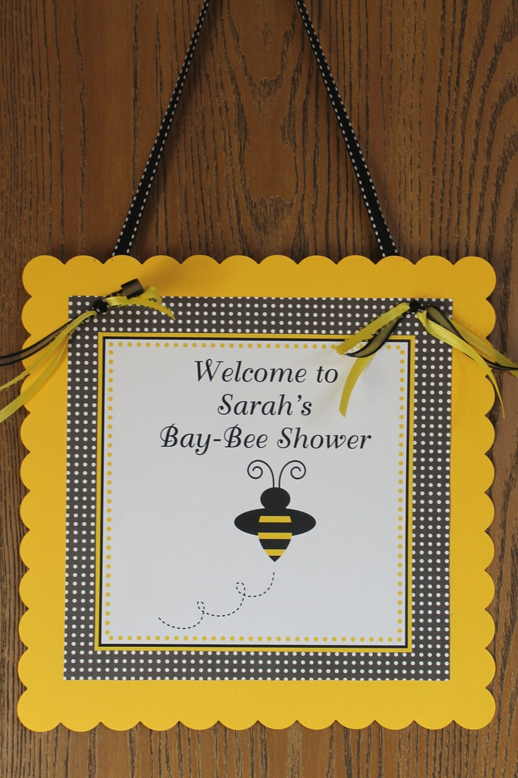 Mommy To Bee Baby Shower Personalized Door Sign 10 00