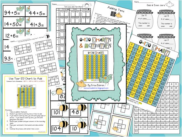 0-120 Charts and Activities - Common Core Aligned!