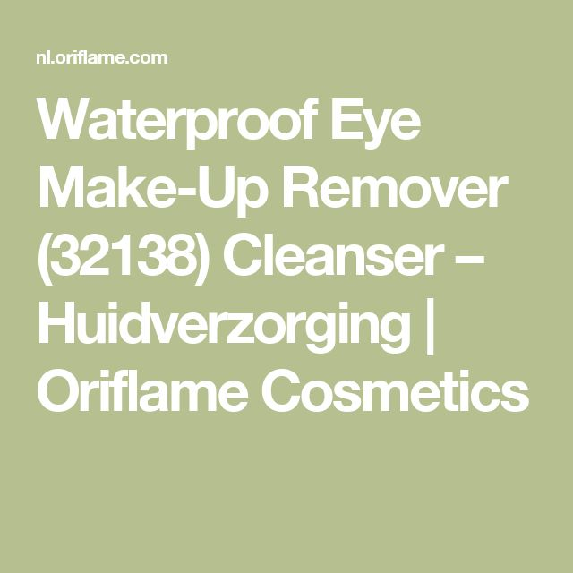 Waterproof Eye Make-Up Remover (32138) Cleanser – Huidverzorging | Oriflame Cosmetics
