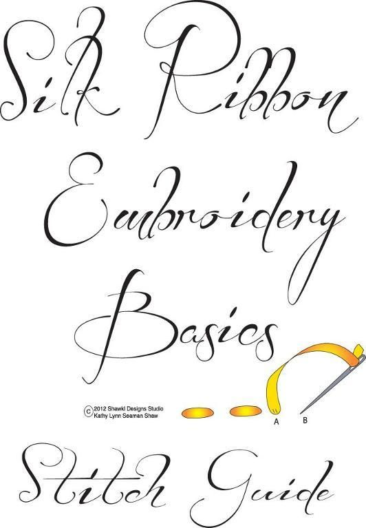Basic Silk Ribbon Embroidery Guide pattern on Craftsy.com