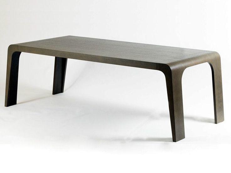 Tavolo da pranzo rettangolare in legno Collezione Ozone by Thomas de Lussac Design Lab | design Thomas de Lussac