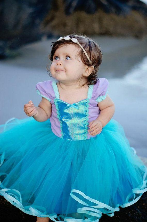 Mermaid dress Ariel dress princess Tutu by loverdoversclothing