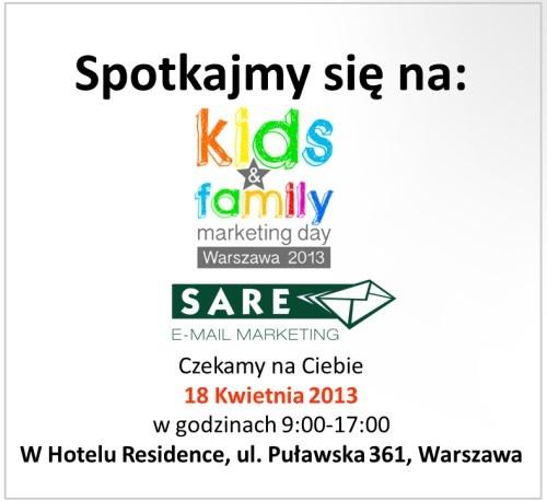 Dzisiaj zapraszamy na Kids & Family Marketing Day:)