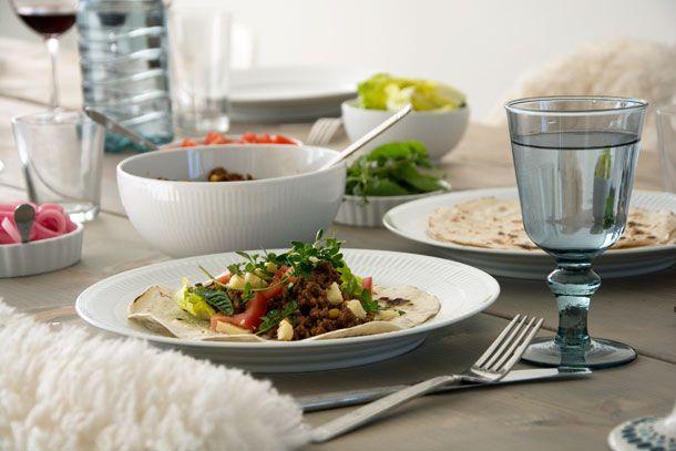 Krydret oksekød til tortillas og taco - Opskrift