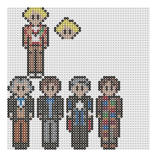 Doctors 1 - Doctor Who perler bead patterns by geek-2perlerbeads