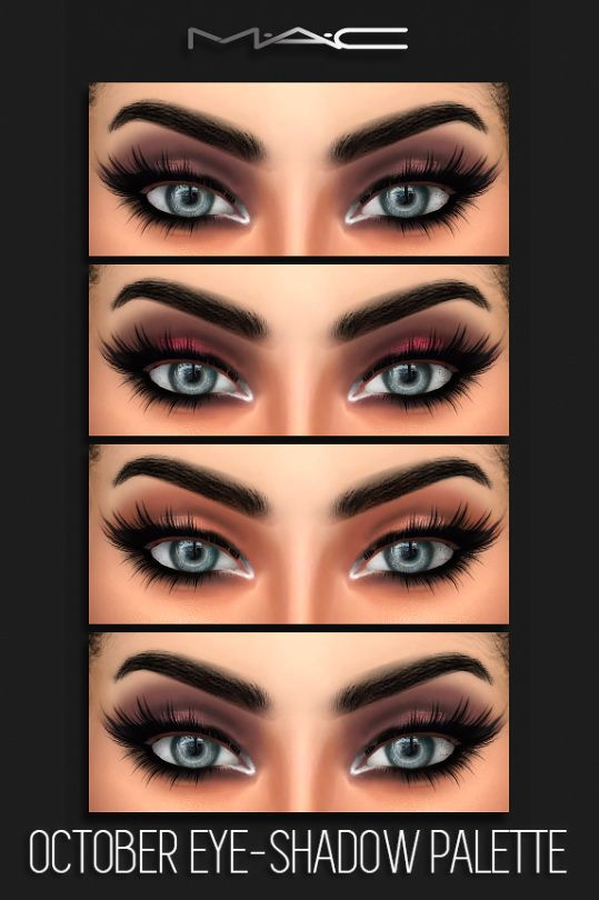 MAC cosimetics: October Eye-Shadow Palette • Sims 4 Downloads