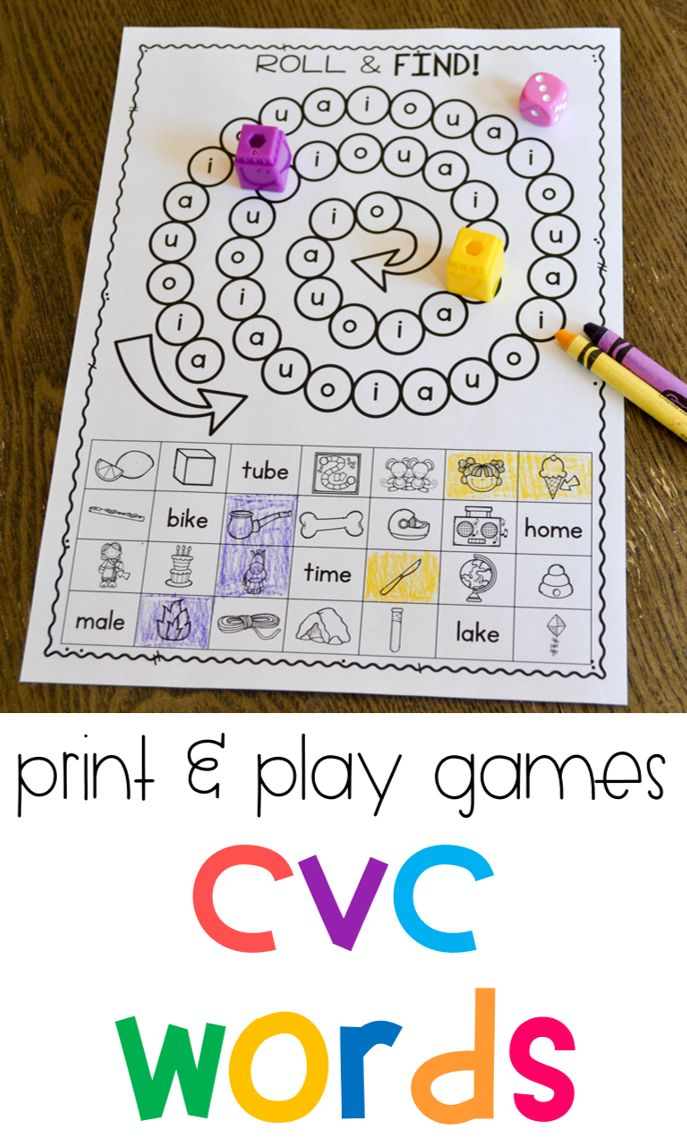 These are some of my favorite phonics games for first grade! These short vowel activities are all in black and white so they are ready to just print and play! They are great for students to practice their fluency with CVC words!