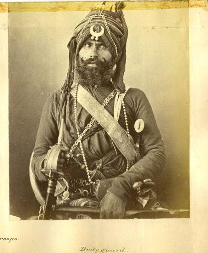 Sikh bodyguard.