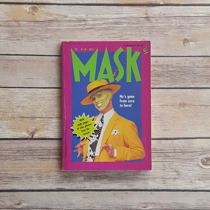 The Mask Jim Carrey Book The Mask Movie Jim Carrey Actor Movie 90s Movie Random House Book 90s Comedy Movie 90s Kids Book 1990s Kids Book by TheBookCottage on Etsy https://www.etsy.com/listing/483690427/the-mask-jim-carrey-book-the-mask-movie