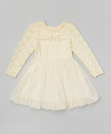 This Ivory Crochet Dress - Toddler & Girls is perfect! #zulilyfinds